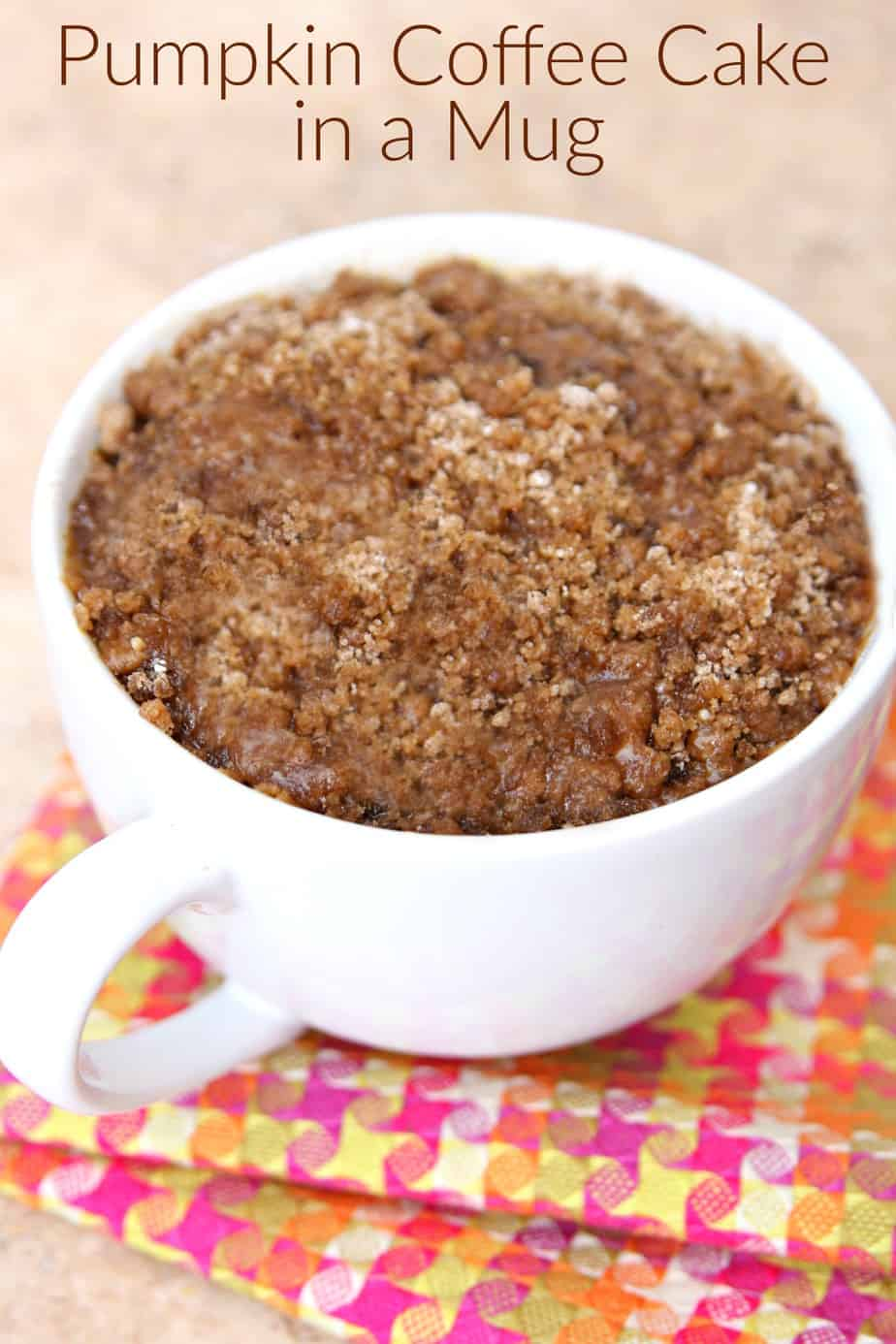Pumpkin Coffee Cake in a Mug