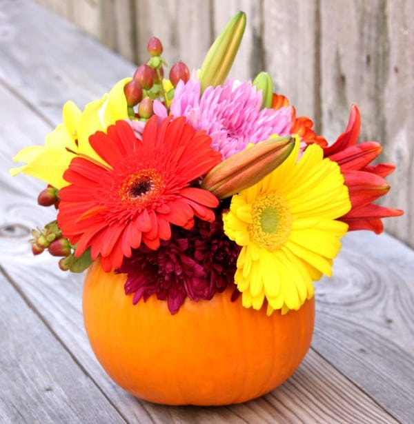 Pumpkin-Flower-Arrangement
