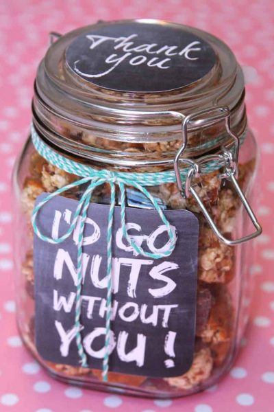 Thank you gift in a jar - I'd go nuts without you
