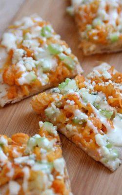 Buffalo Cauliflower Flatbread Pizza