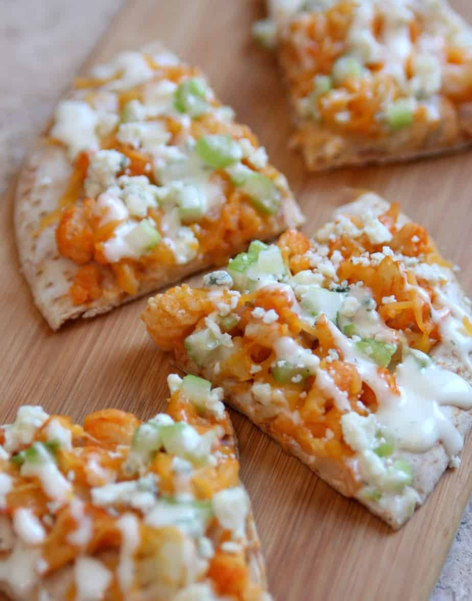 Buffalo Cauliflower Flatbread Pizza