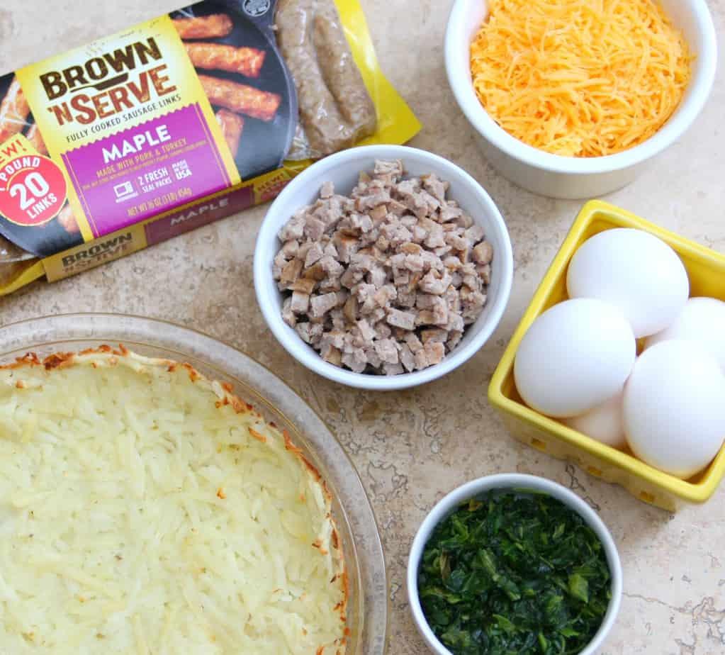 Hashbrown Quiche Ingredients