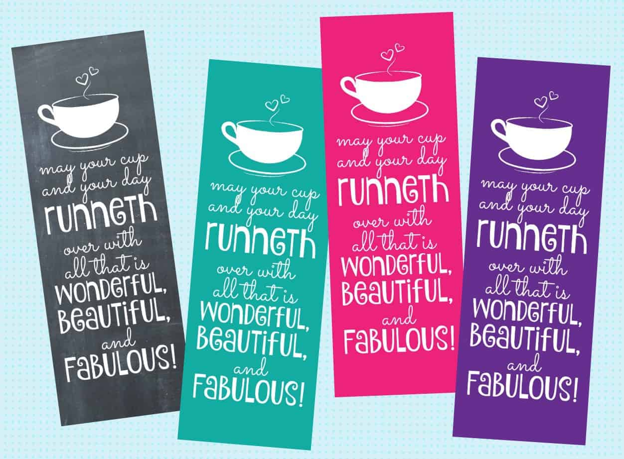 may your cup runneth over bookmarks