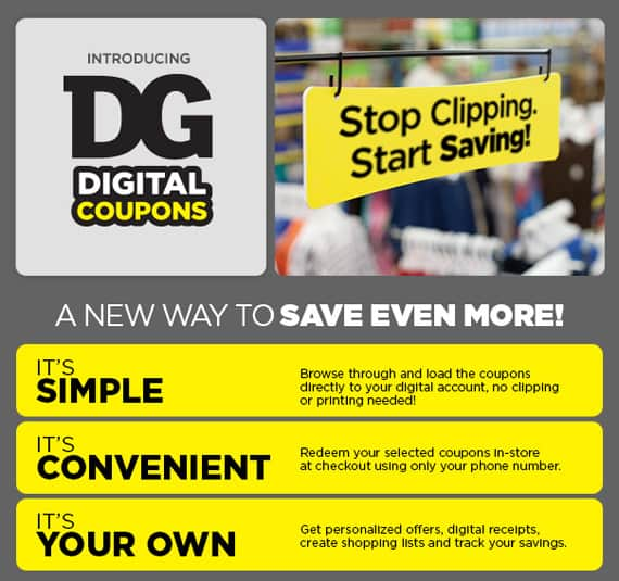 Dg coupons sign up