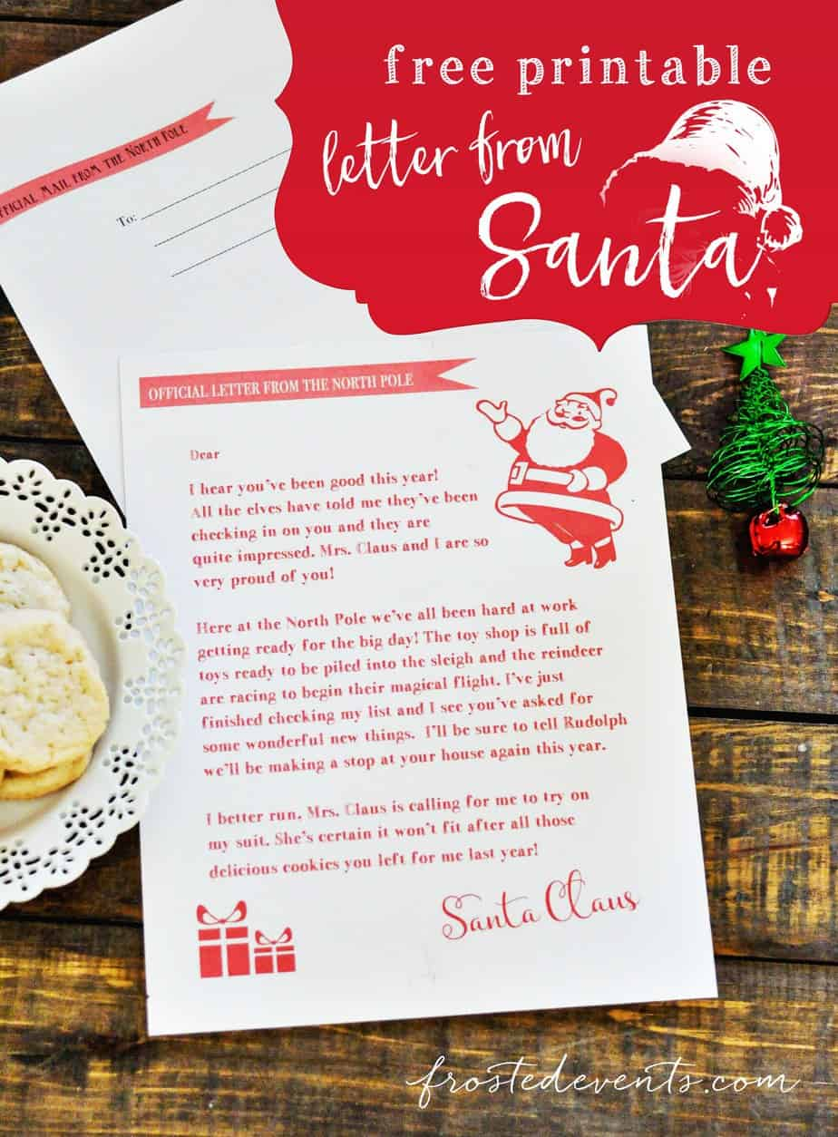 Letters from Santa Free Printable