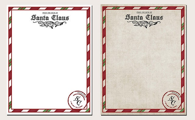 Letters from Santa Stationary Free Printable