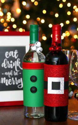 Festive Wine Bottles