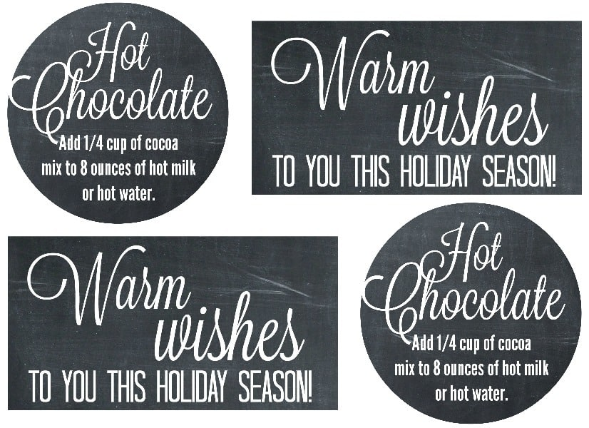Hot Chocolate Mix Labels 2