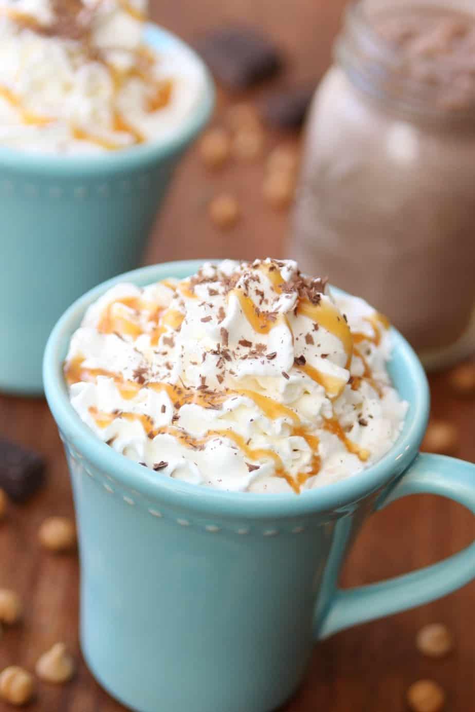 Peanut Butter Caramel Hot Chocolate