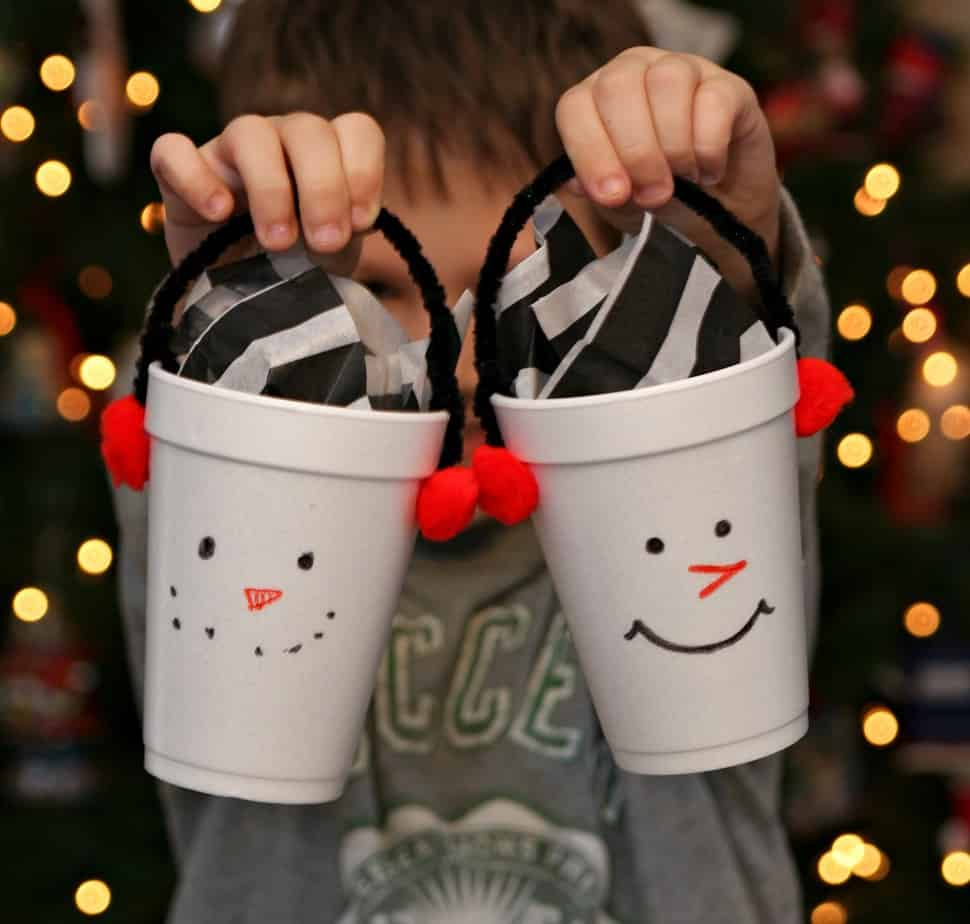 Snowman Treat Cups