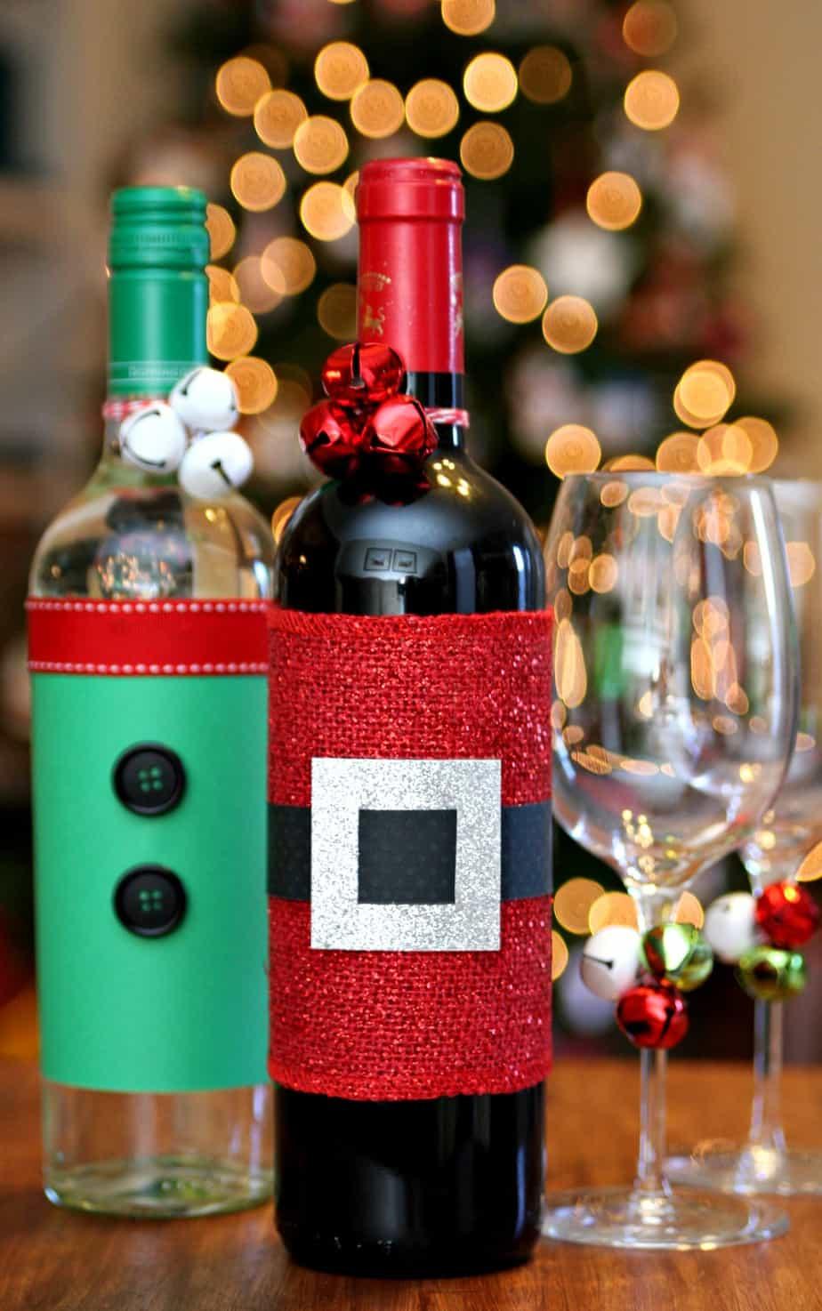 Festive Wine Bottles - Set up a Wine Station