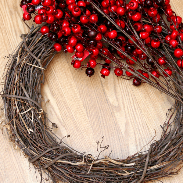 berry wreath materials