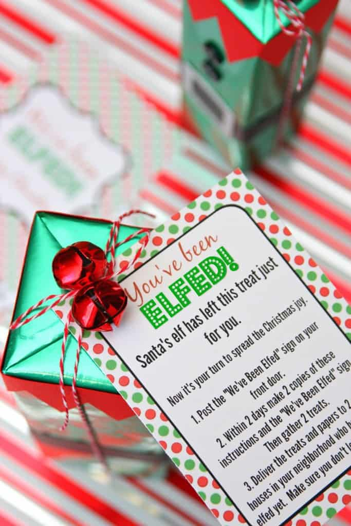 photo regarding You've Been Elfed Free Printable known as Youve Been Elfed - Its year toward elf your neighbors with