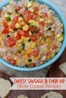 http://www.happygoluckyblog.com/wp-content/uploads/2016/01/Cheesey-Sausage-and-Corn-Dip-272x400.jpg