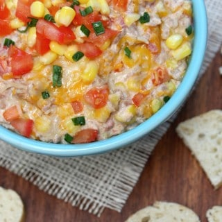 Cheesy Sausage and Corn Slow Cooker Dip