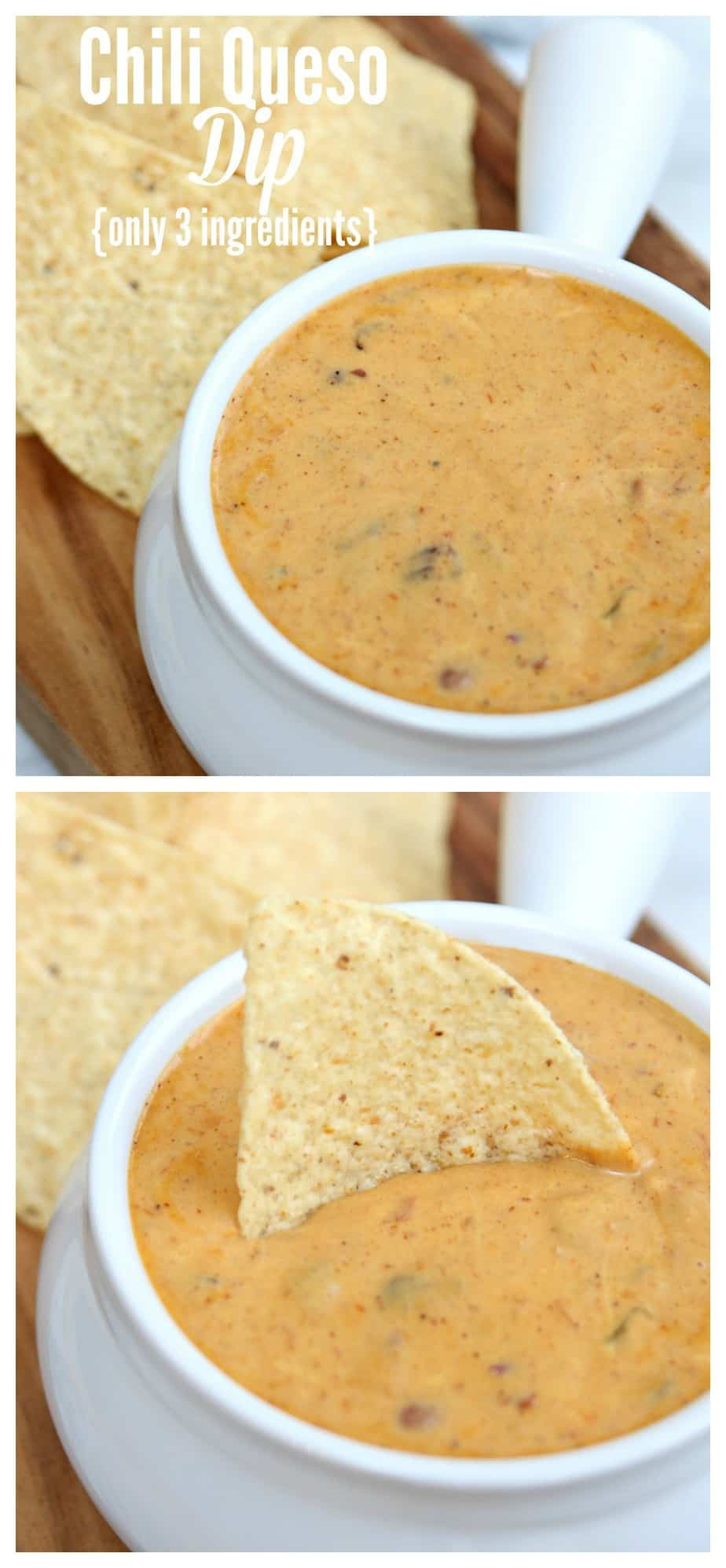 3 Ingredient Chili Queso Dip