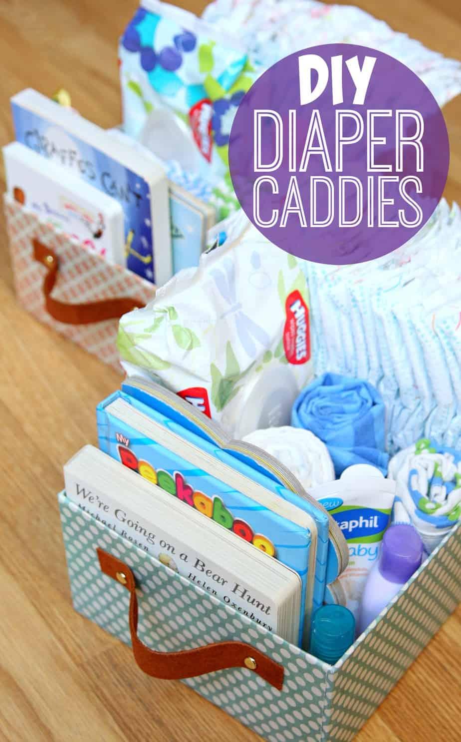DIY Diaper Caddies