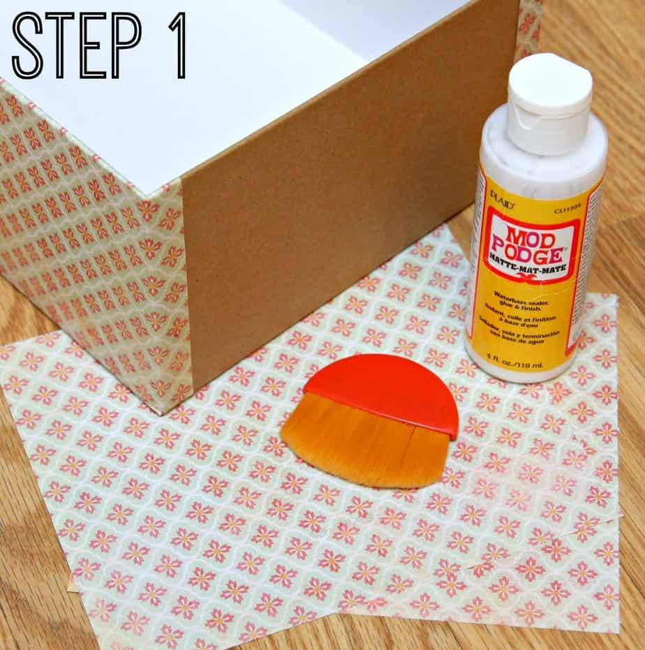DIY Diaper Caddy Step 1