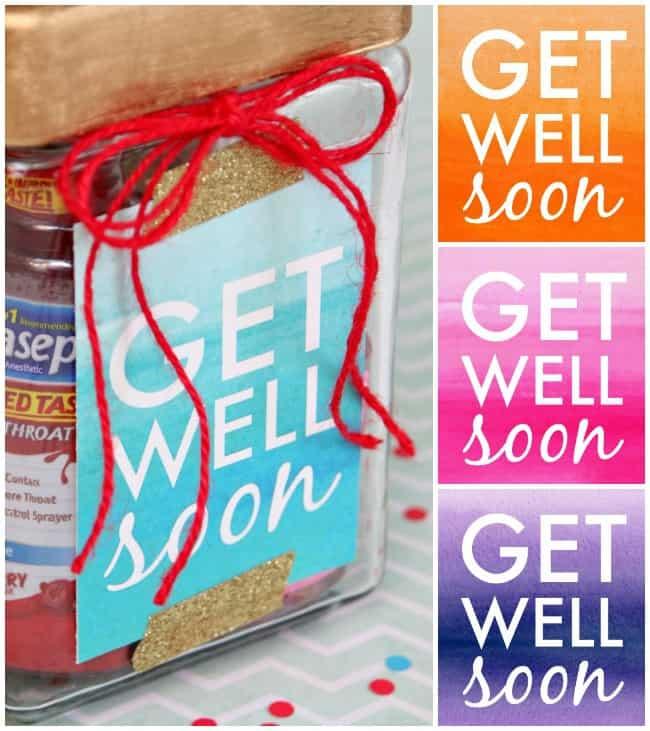 Get Well Soon Jar Gift Tags