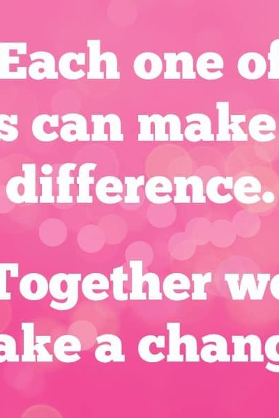 Together we make a change