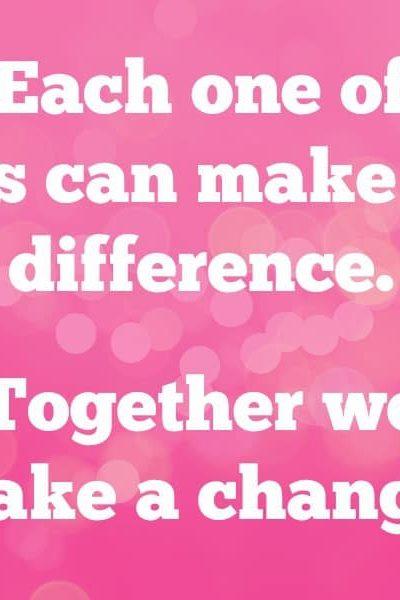 Together we make a change
