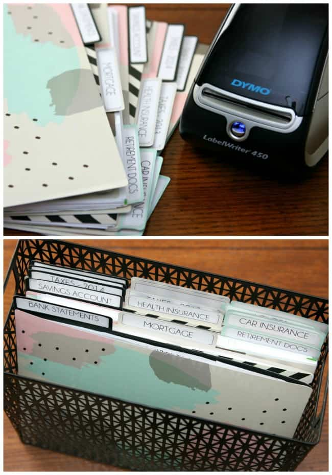 Files and Bin - Organizing Paper Clutter