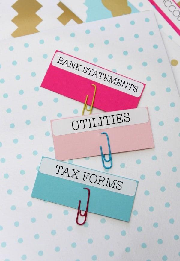 Paper Clip Labels