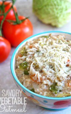 Savory Vegetable Oatmeal