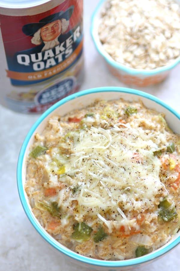 Savory vegetable oatmeal 6