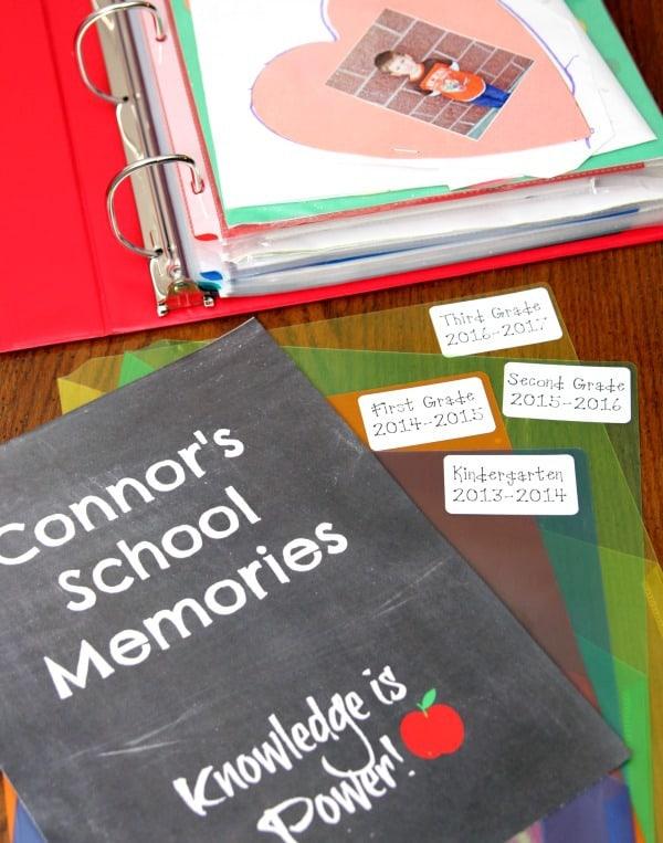 School Memories Binder