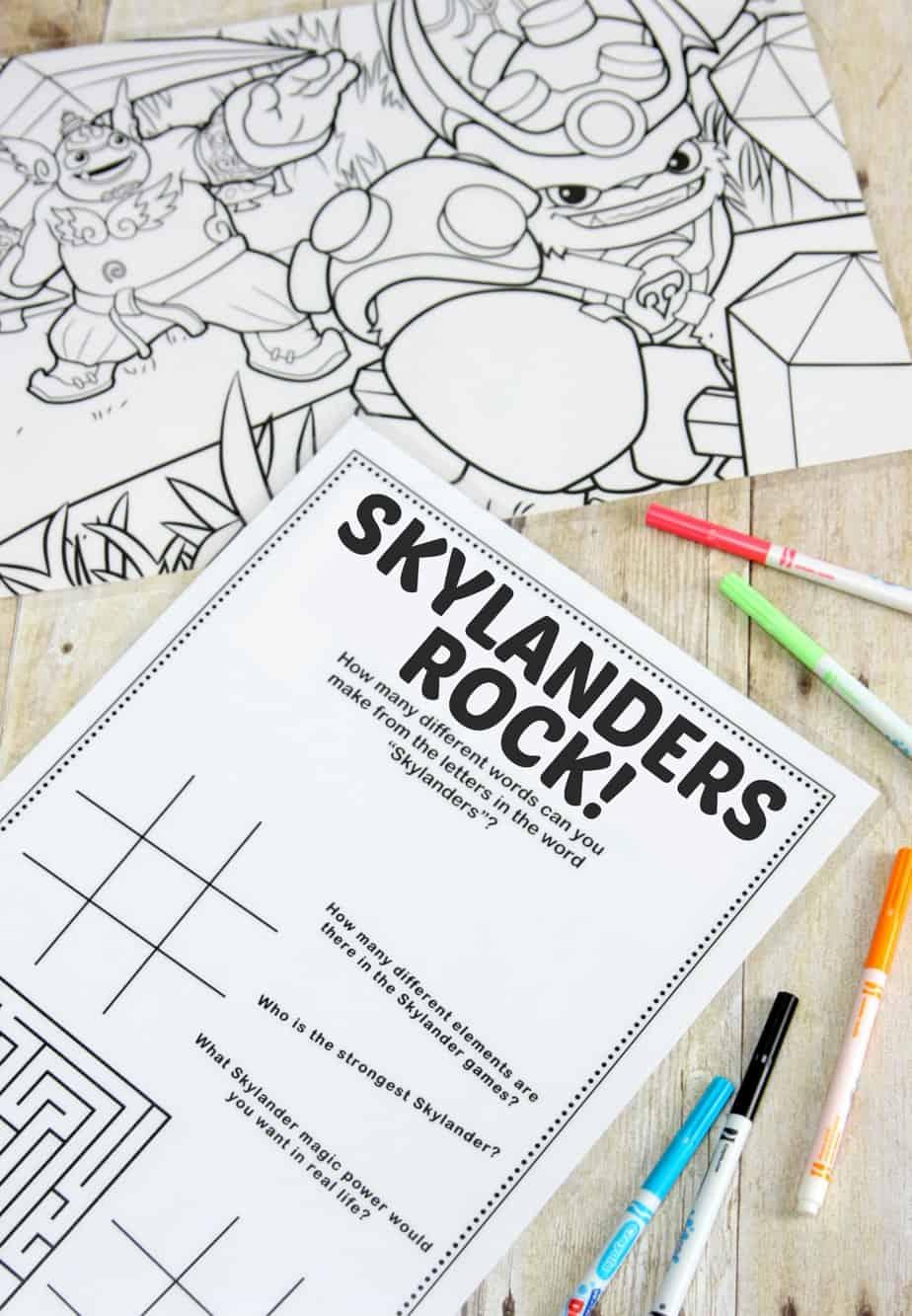 Skylanders Placemats
