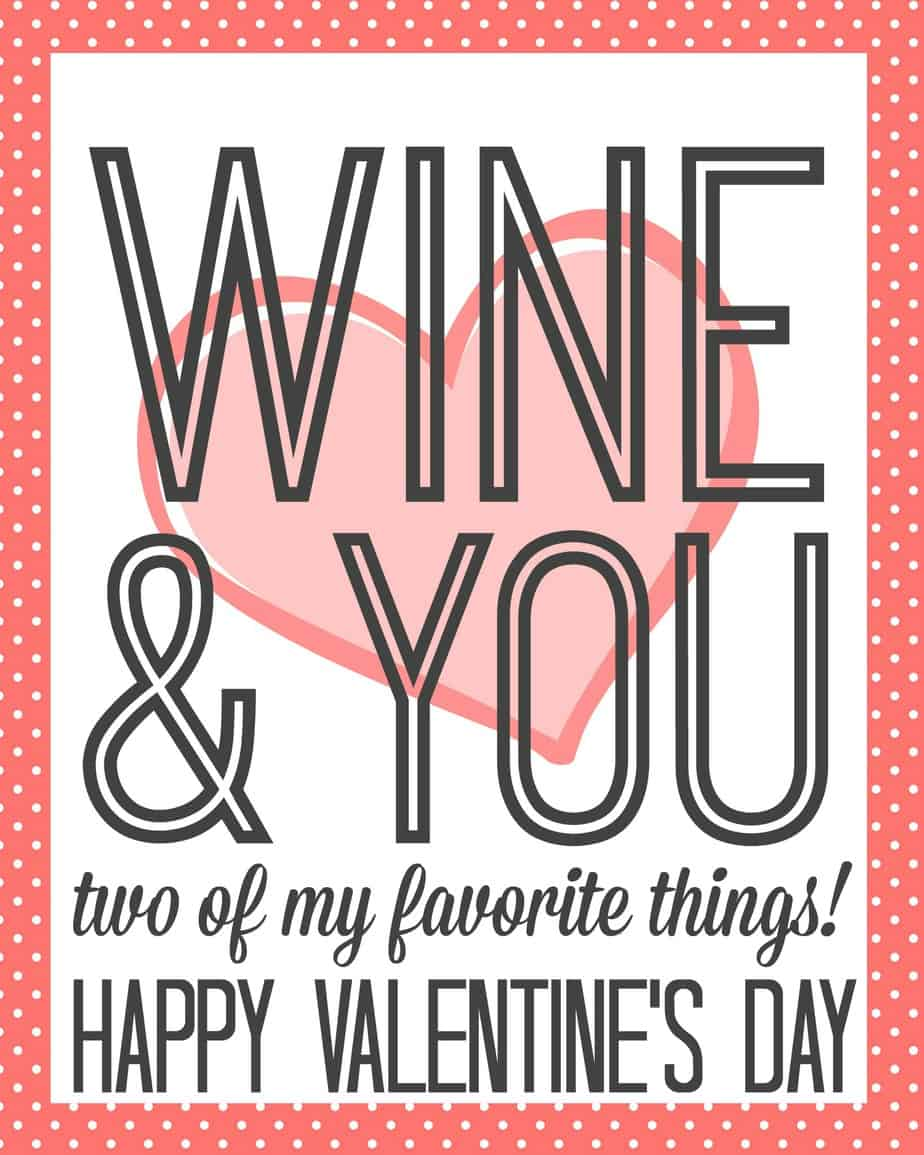 Wine and You Two of My Favorite Things Gift