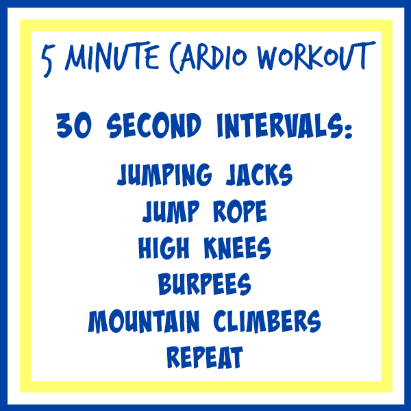 5 minute cardio work out