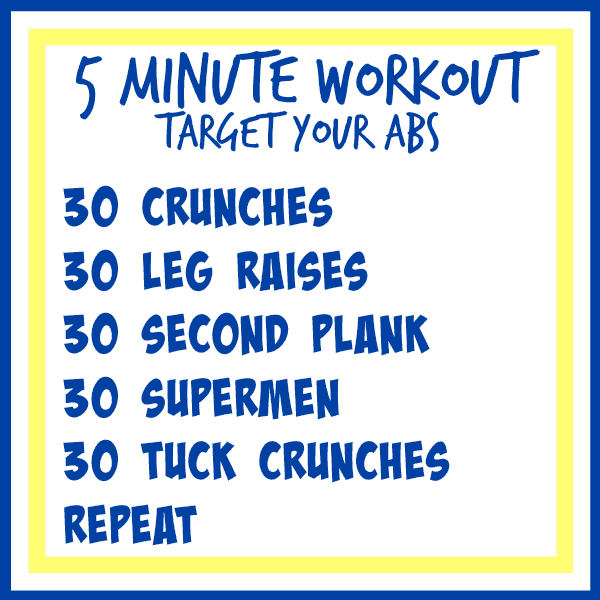 5 minute workout abs