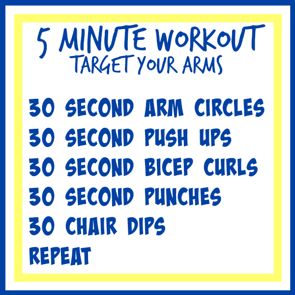 5 minute workout arms