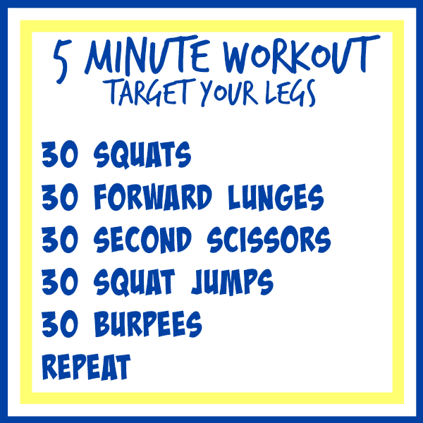 5 minute workout legs