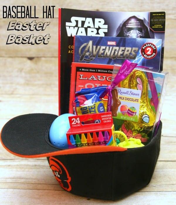 Baseball Hat Easter Basket