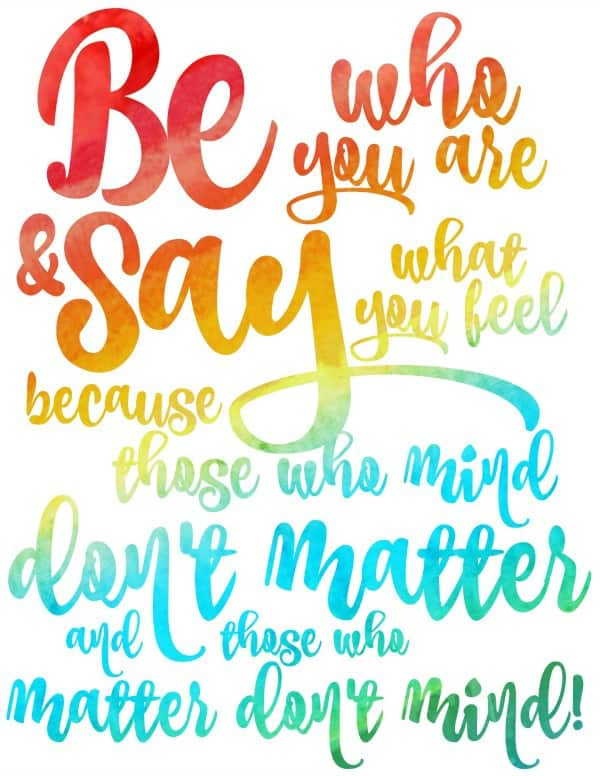graphic regarding Dr.seuss Quotes Printable titled Be Who Your self are Dr. Seuss Printable