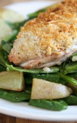 Crispy Chicken Parmigiana Salad