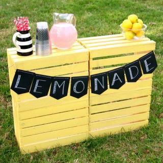 Super Easy DIY Lemonade Stand