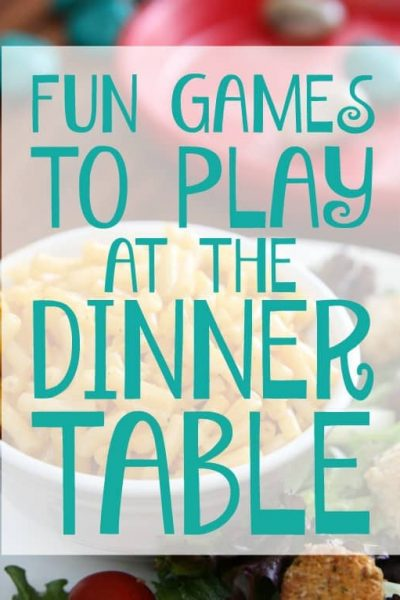 Fun games to play at the dinner table