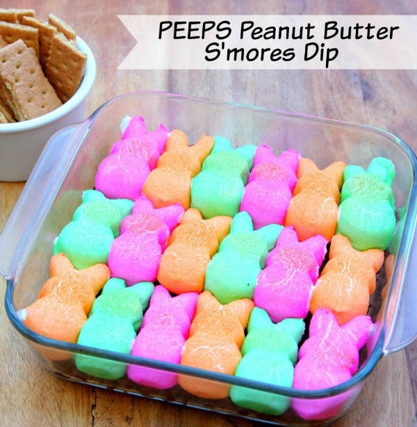 ... making this PEEPS Peanut Butter S'mores Dip because it's amazing