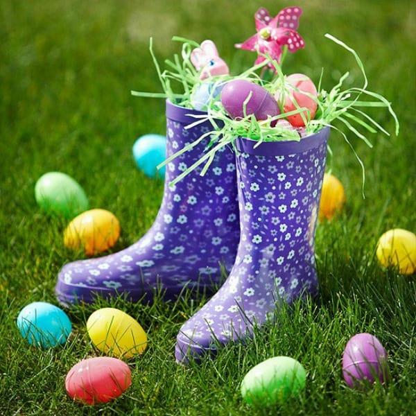 Rain Boots Easter Basket