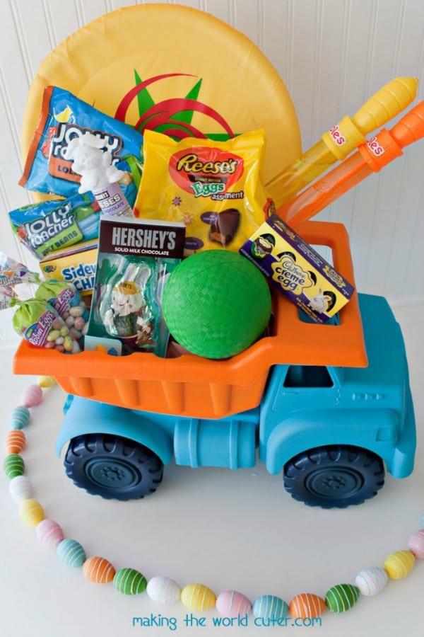 Toy Truck Easter Basket