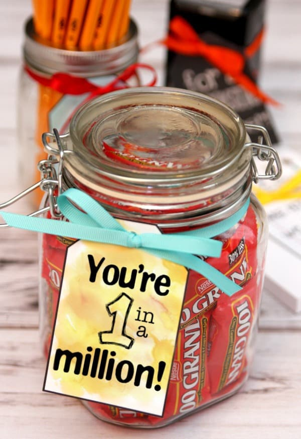 You're 1 in a Million Teacher Gift Tag