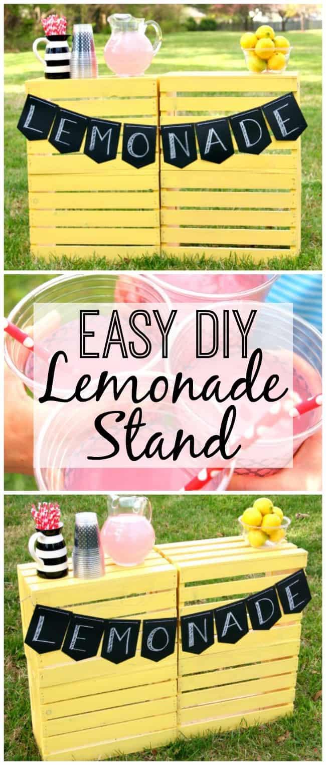 super easy diy lemonade stand happy go lucky. Black Bedroom Furniture Sets. Home Design Ideas