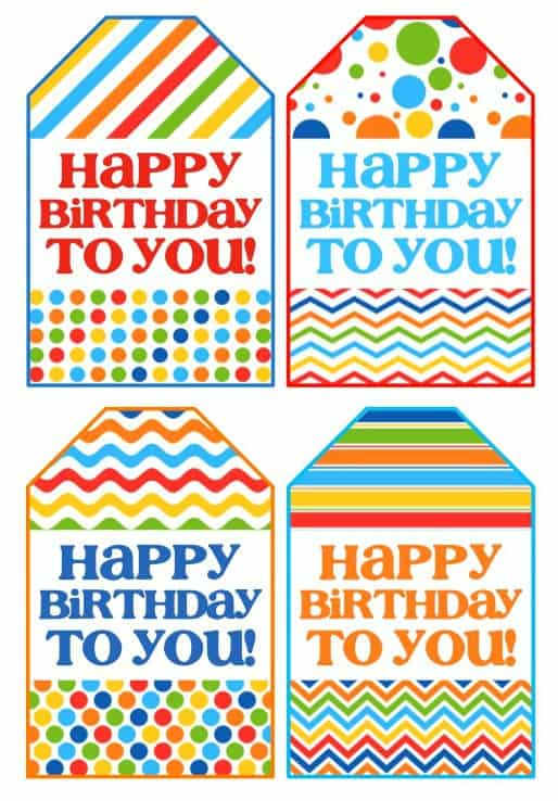 Genius image regarding happy birthday tag printable