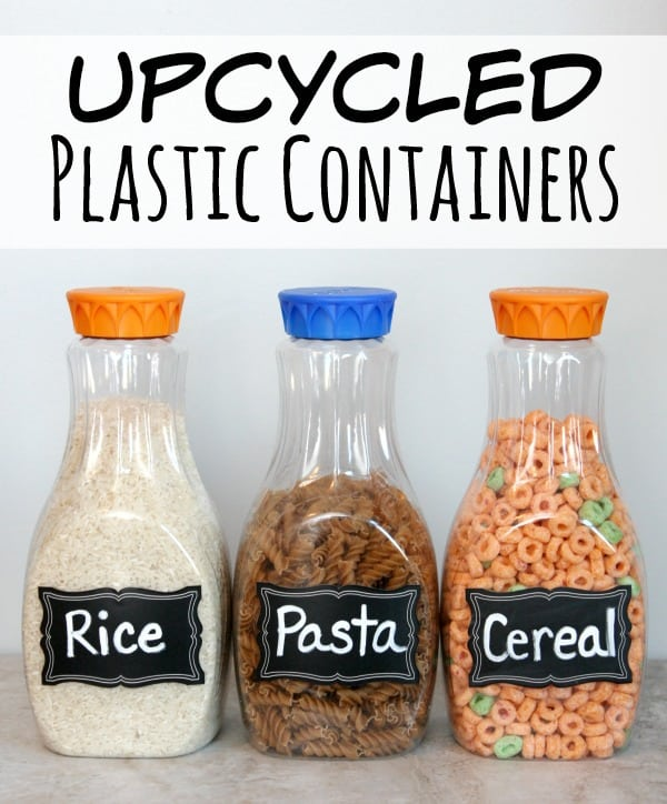 Upcycled Plastic Containers to use in your Pantry - Happy ...