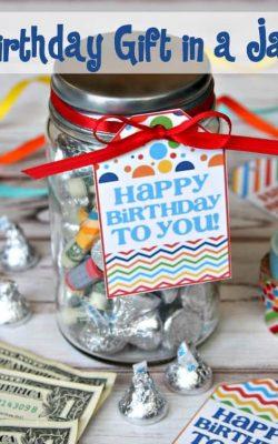 Birthday Gift in a Jar
