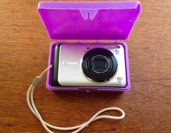 camera in soap container